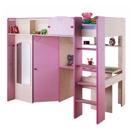 lit mezzanine avec am nagement penderie petite f e lit combin pinterest am nagement. Black Bedroom Furniture Sets. Home Design Ideas