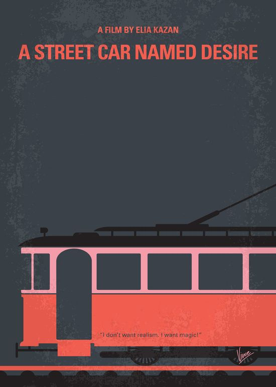 A Streetcar Named Desire (1951) ~ Minimal Movie Poster by Chungkong #amusementphile