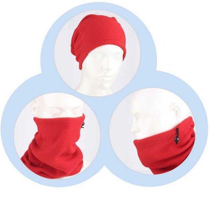Polar Fleece Neck Warmer Snood Scarf Hat Mask Unisex Thermal Ski Snowboard Wear #3Colorwarmer