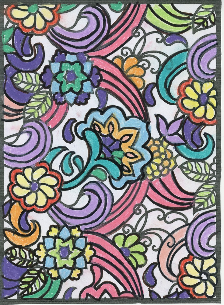 Jessica M. (12 - 18 division) from Paisley Designs Stained Glass Coloring Book: http://store.doverpublications.com/0486484025.html