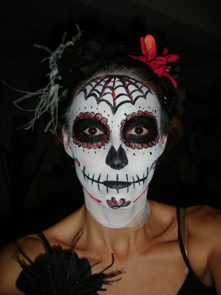 Maquillage halloween cr ne mexicain maquillage pinterest halloween - Maquillage squelette mexicain ...