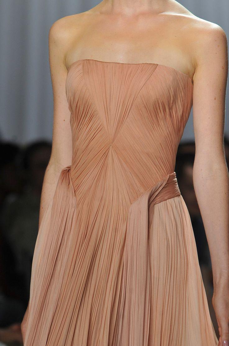Such beautiful detailing at Zac Posen, New York Fashion Week Spring 2014 - StyleBistro