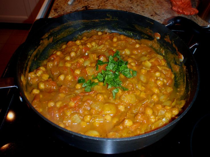 Chickpea and pumkin quick curry.