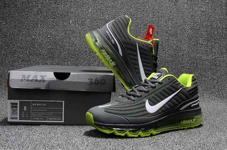 Nike Air Max 360 Running Shoes For Men Gray Green