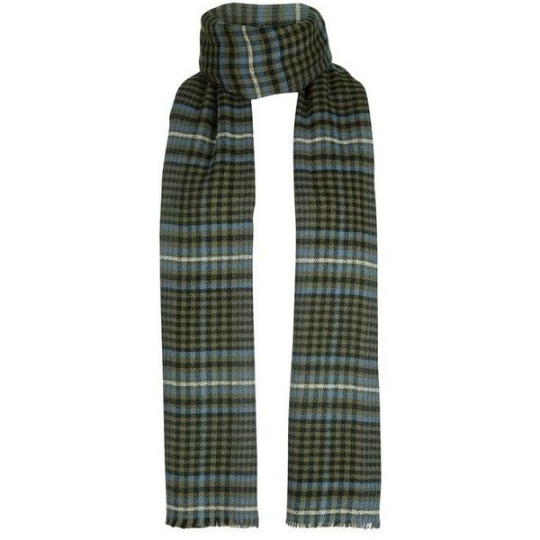 Topshop Heritage Mid Check Scarf (166.575 IDR) ❤ liked on Polyvore featuring accessories, scarves, checkered scarves and topshop scarves