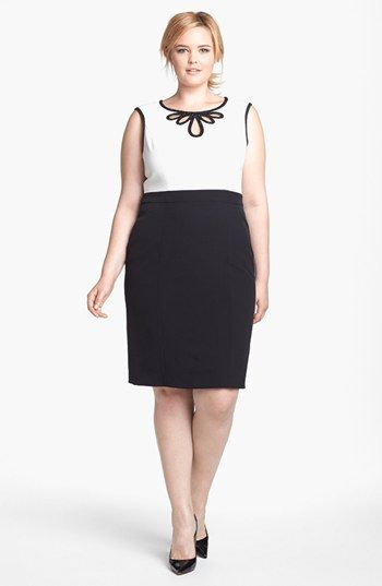 Adrianna Papell Embellished Crepe Sheath Dress (Plus Size) available at #Nordstrom
