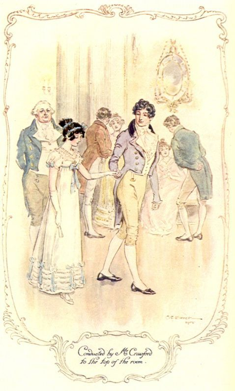 Conducted by Mr Crawford to the top of the room (Mansfield Park)