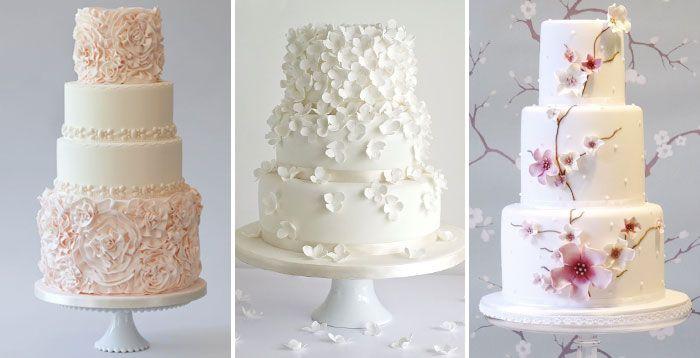 Многоярусные торты с каскадом цветов
