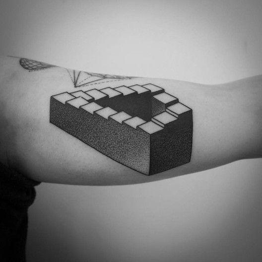 118 Impressive Architecture Tattoo Designs,Ana Rui Aguiar. Via Facebook