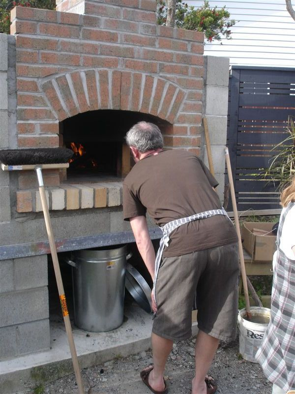 woodfired brick oven pizza party