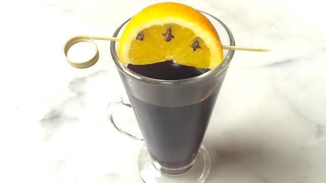 Smoking Bishop at 1789 Restaurant in Washington, DC -  Mulled port and red wine, roasted orange and cloves, warm spices.