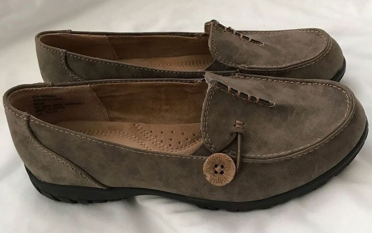WHITEMT Women's Judo Stone Moccasins, Grey,  Size 6 1/2M Pre-owned   | eBay