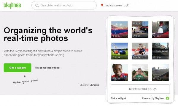 Nuevo servicio de Skylines para insertar imágenes temáticas a tiempo real