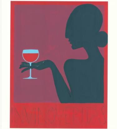 "Saatchi Art Artist elise collet soravito; Painting, ""In vino veritas"" #art"