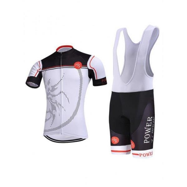 Color Block Printed Zip-Up Stand Collar Cykling Suit (T-tröja + haklappar shorts) För Män