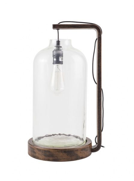 CH0443 Лампа настольная со стеклянным куполом в стиле ретро