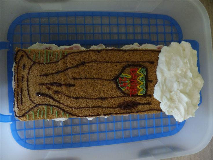 Pokus o dort ve tvaru piva :)