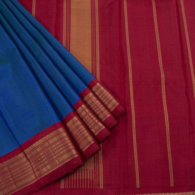 Sri Sagunthalai Silks Handwoven Korvai Kanchipuram Silk Saree 10002715 - AVISHYA