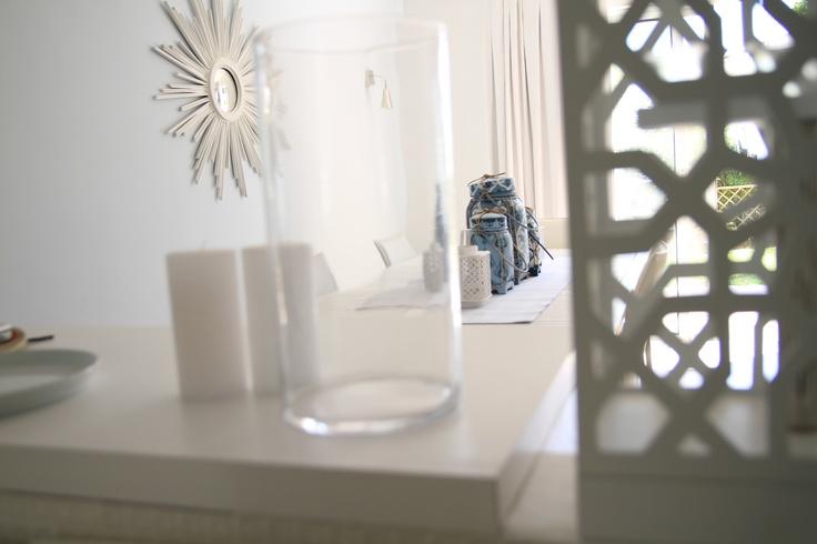 white, blue, beach inspired objects, schumacher fabrics