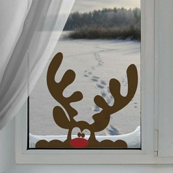 die besten 25 fensterbilder weihnachten ideen auf pinterest fensterbilder weihnachten basteln. Black Bedroom Furniture Sets. Home Design Ideas