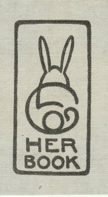Olive Lathrop Grover of Winnetka Illinois designed her own bookplate via Confessions of a Bookplate Junkie