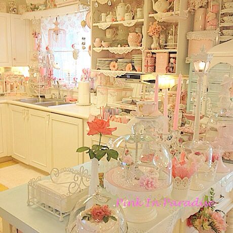 my pink kitchen pink and blue kitchens pinterest kitchens shabby and shabby chic decor. Black Bedroom Furniture Sets. Home Design Ideas