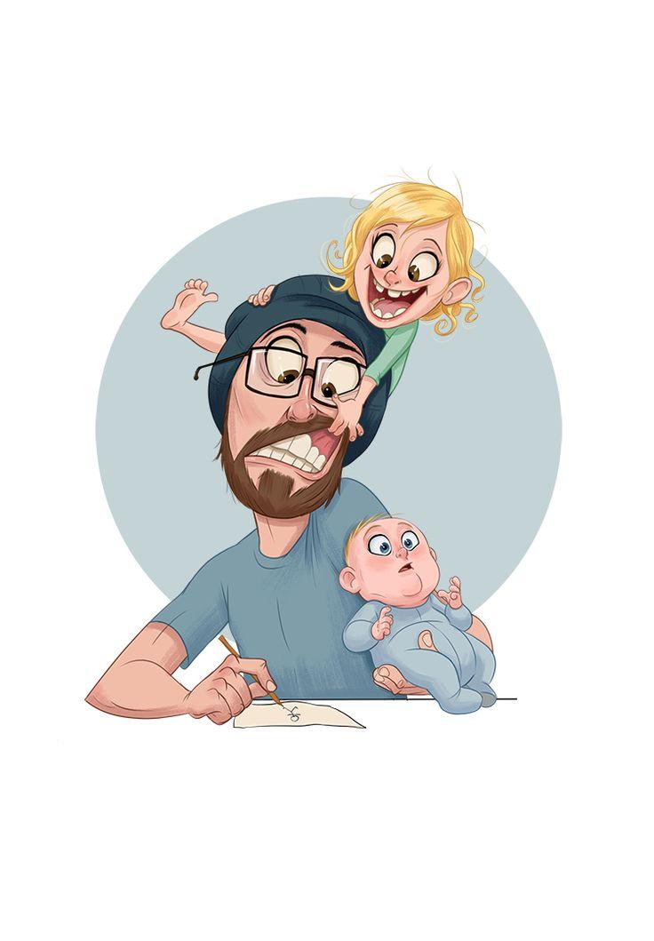 можете найти картинки семья мультяшные карикатуры красива, ласкова, прелестна