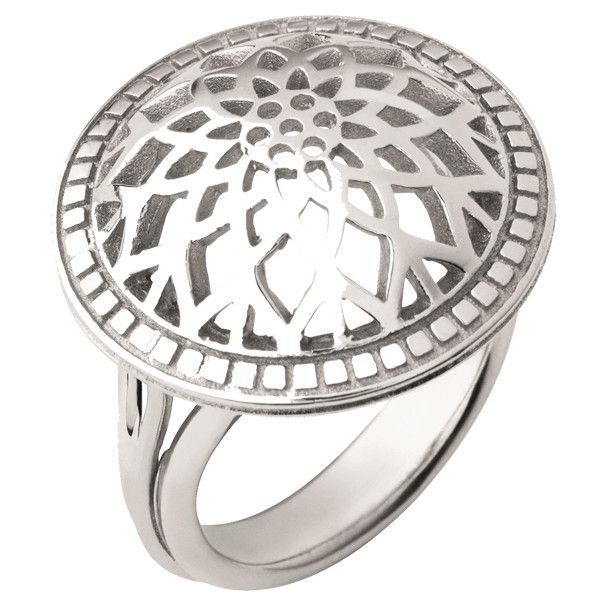 Links of London Timeless Sterling Domed Ring in Silver (16.820 RUB) via Polyvore featuring jewelry, rings, silver, silver dome ring, silver jewellery, silver rings, links of london rings и silver jewelry