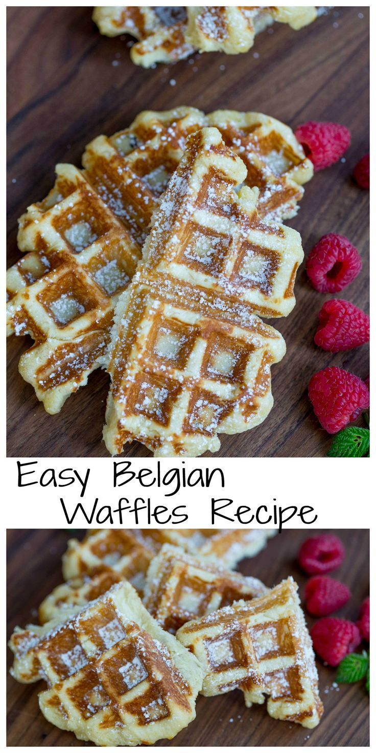 Easy Belgian Waffles recipe,They will easily fly off the table as a dessert or make an impressive breakfast.