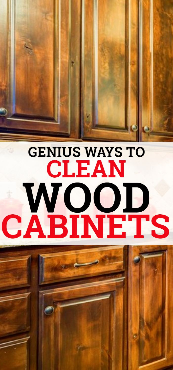 How To Clean Your Wooden Cabinets Cleaningtips Cleaninghacks Hometips Homehacks Howtoclean Cleaning Wooden Cabinets Wooden Cabinets Clean Kitchen Cabinets