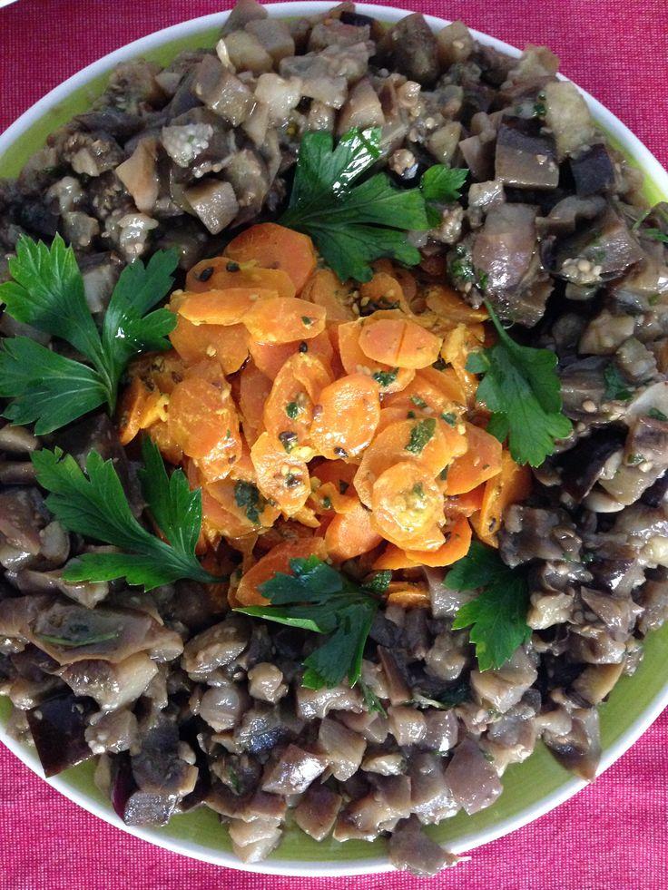Sautè di carote, semi di lino e sesamo.