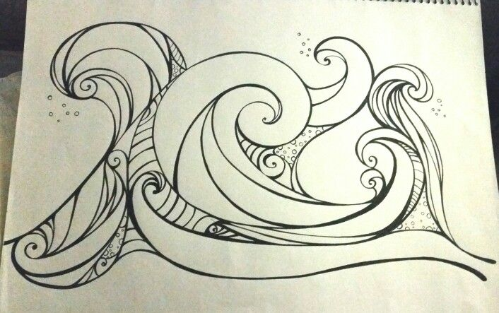 Wave zentangle