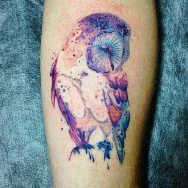 owl watercolor tattoo - Google Search