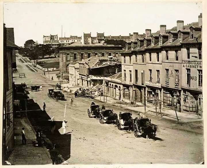Bridge St,Sydney,between George and Pitt Sts (year unknown).A♥W