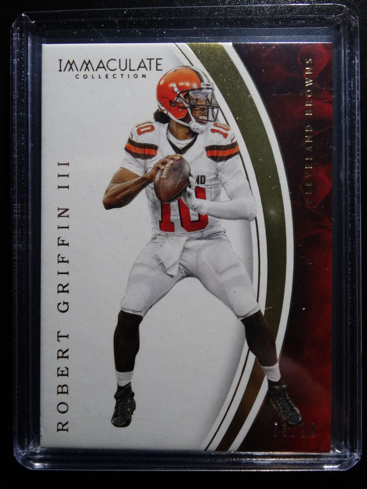 2016 Immaculate Robert Griffin III Cleveland Browns Base Card 73/99 #ClevelandBrowns