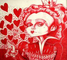 Red Queen Caricature Ballpoint pen