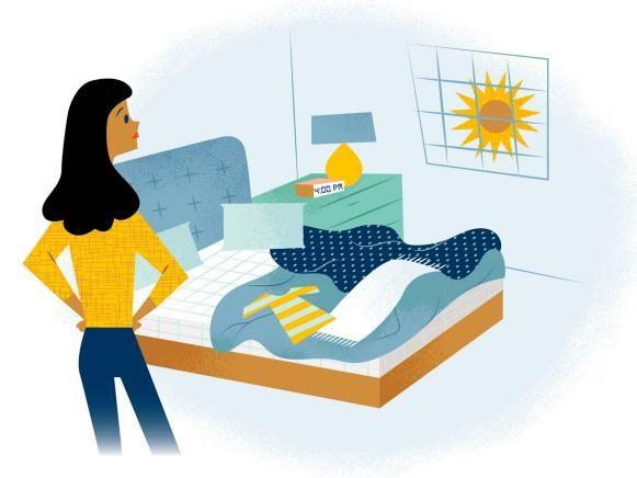 Αποτέλεσμα εικόνας για illustration make bed pinterest