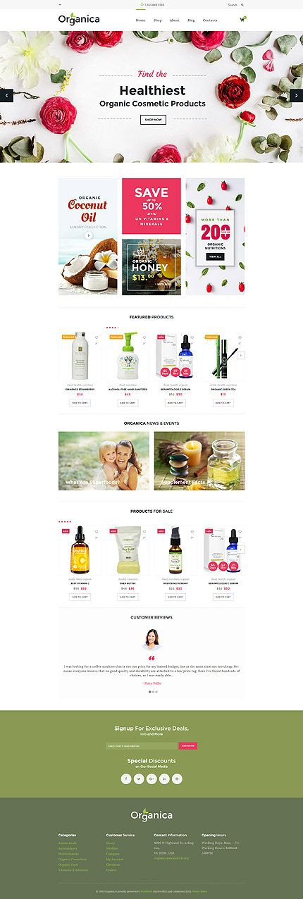 Organic Cosmetic Products Online Store #WooCommerce #template. #themes #business #responsive #WooCommercethemes