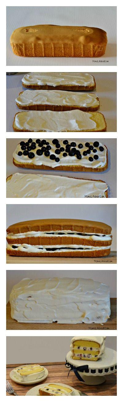 10 Minute Blueberry Pound Cake