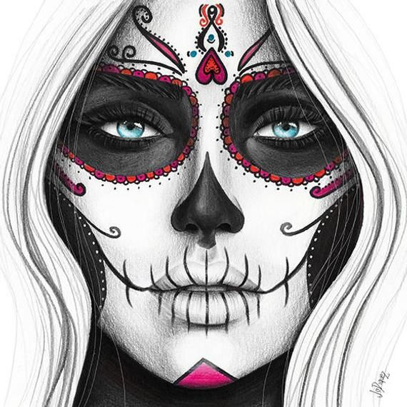 This Item Is Unavailable Etsy Skull Girl Tattoo Day Of The Dead Artwork Day Of The Dead Art