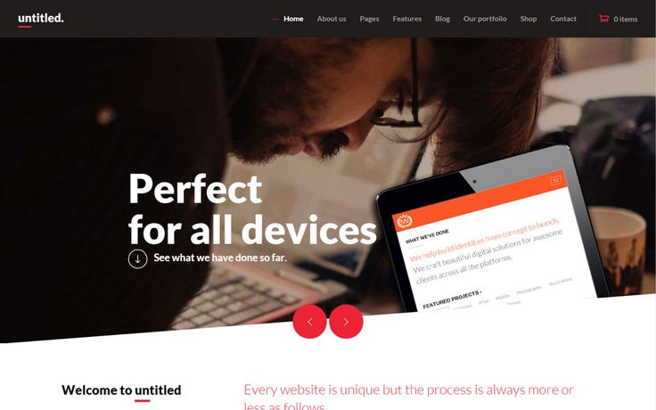A Creative Multipurpose WordPress Theme from Themefuzz: Untitled - Creative WP Theme #website #design