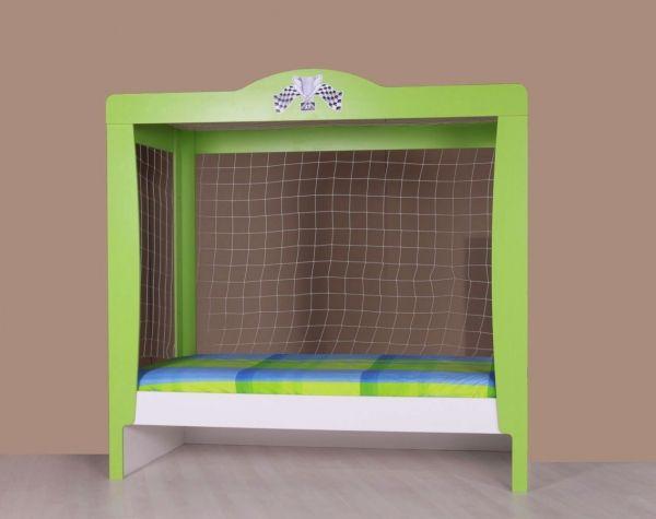Amazing Der Blickfang dieses Kinderzimmers bildet das Fu ball Kinderbett im tollen und einzigartigen Tor Design In diesem Bett als Fu balltor werden