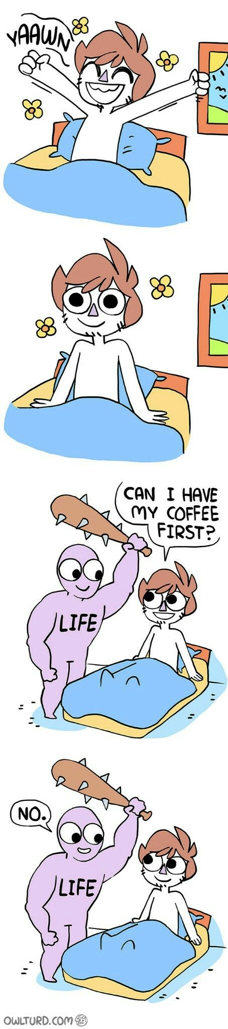 *ignores life and all of life's friends until I drink coffee* *ok… I'm ready now*  *gets hit in face*