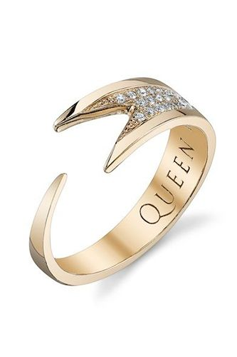 Queen Vee Diamond Stinger Wrap Ring, $1,825, available at Roseark. 33 Quirky Engagement Rings For Alt Brides #refinery29