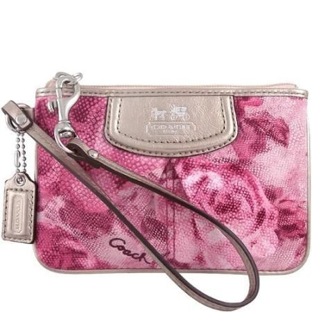Coach Madison Floral Small Wristlet Pink