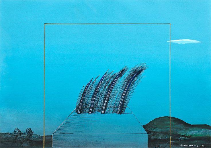 """TUULI"" by Juhani Linnovaara (born 7 January 1934 Hämeenlinna) is a Finnish artist. - http://fi.wikipedia.org/wiki/Juhani_Linnovaara || https://www.bukowskis.com/fi/auctions/F164/337-juhani-linnovaara-tuuli"