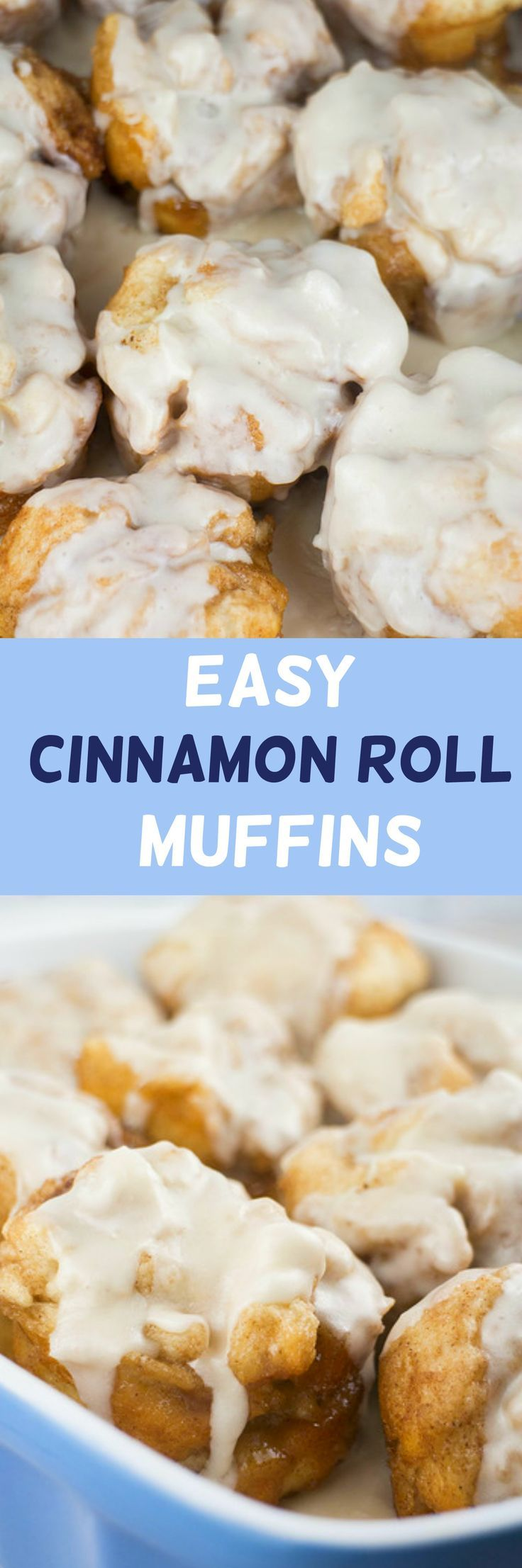 Easy Cinnamon Roll Muffins made ready in 12 minutes! Use refrigerated biscuits to make homemade Cinnamon Rolls with a powdered sugar icing that your kids will fall in love with! These Cinnamon Rolls are quick and delicious - perfect for Saturday morning breakfast