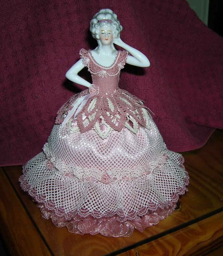 My pin-cushion lady (antique porcelain lady)