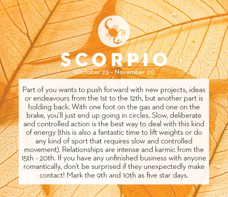 September horoscope 2013: Scorpio