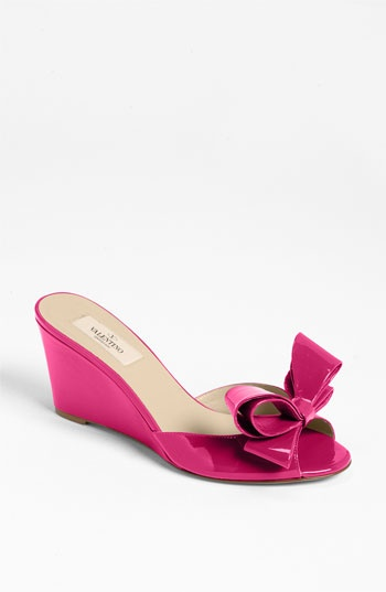 Valentino Bow Wedge Sandal available at #Nordstrom